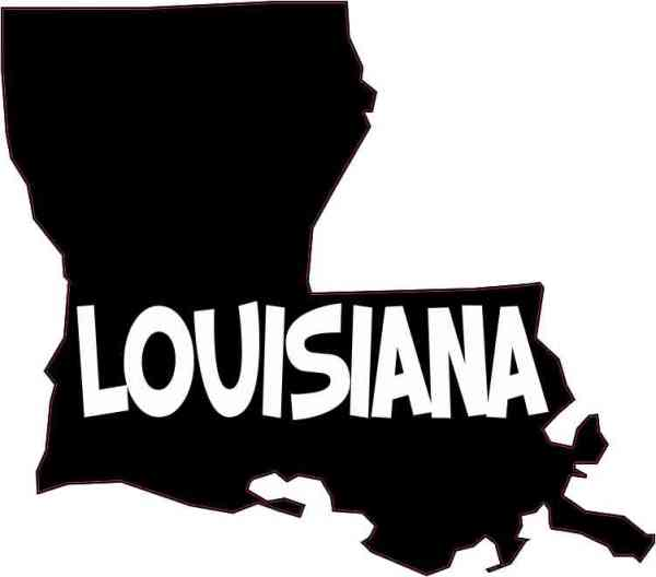 Die Cut Louisiana Sticker
