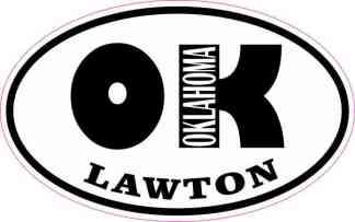 Oval OK Lawton Oklahoma Sticker
