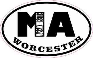 Oval MA Worcester Massachusetts Sticker