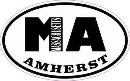 Oval MA Amherst Massachusetts Sticker