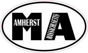 Oval MA Amherst Massachusetts Sticker