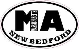 Oval MA New Bedford Massachusetts Sticker