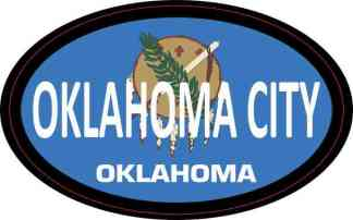Flag Oval Oklahoma City Sticker