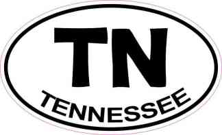 Oval Tennessee Sticker