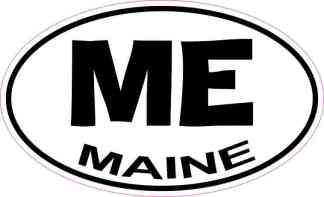 Oval Maine Sticker