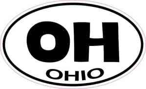 Oval Ohio Sticker