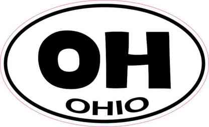 Oval Ohio Sticker