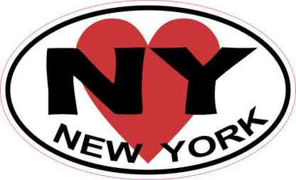 Heart Oval New York Sticker