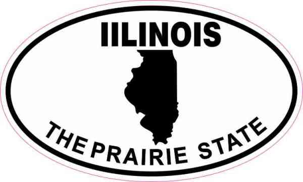 Oval Illinois the Prairie State Sticker
