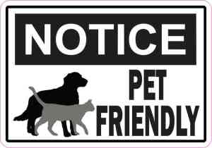Symbol Notice Pet Friendly Magnet