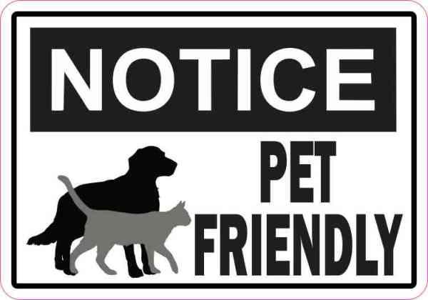 Symbol Notice Pet Friendly Magnet