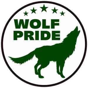 Green Wolf Pride Sticker