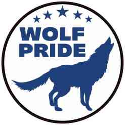 Blue Wolf Pride Sticker