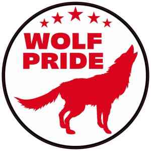 Red Wolf Pride Sticker