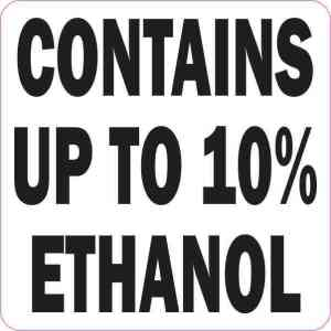 Contains Up To 10% Ethanol Magnet
