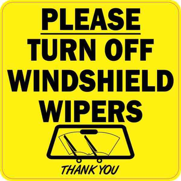 Please Turn Off Windshield Wipers Magnet