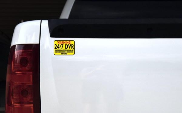 Warning 24/7 DVR Recording Stickers