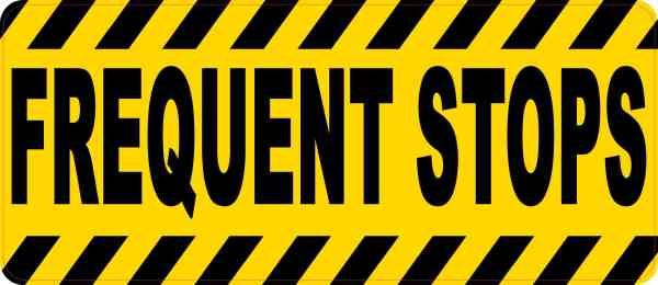 Frequent Stops Sticker