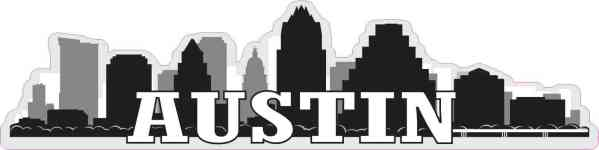 Austin Skyline Sticker
