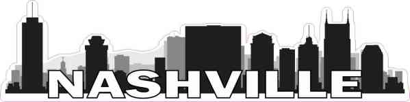 Nashville Skyline Sticker