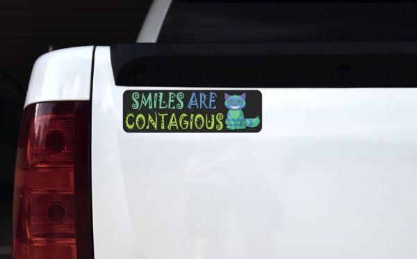 Smiles Are Contagious Bumper Sticker
