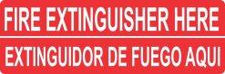 English Spanish Fire Extinguisher Here Magnet