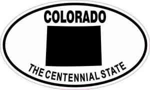 Oval Colorado The Centennial State Sticker