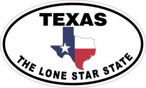 Flag Oval Texas The Lone Star State Sticker