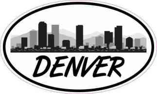 Oval Denver Skyline Sticker
