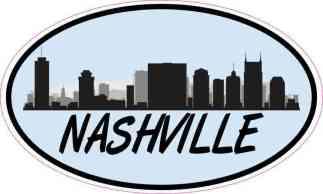 Blue Oval Nashville Skyline Sticker