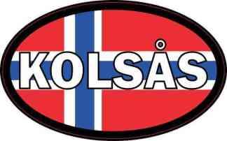 Oval Norway Flag Kolsås Sticker