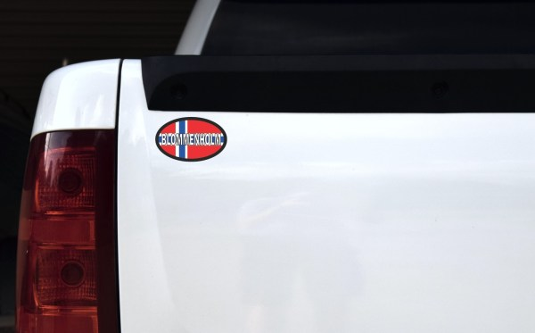 Oval Norway Flag Blommenholm Sticker