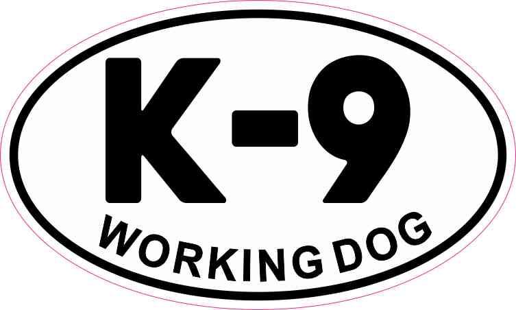 Oval K-9 Working Dog Sticker