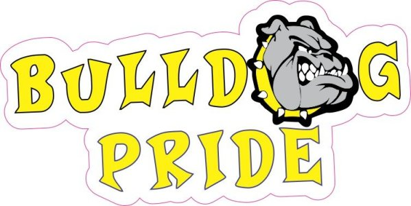 Yellow Bulldog Pride Sticker
