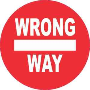 Wrong Way Sticker