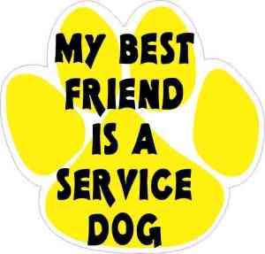 My Best Friend Is a Service Dog Sticker