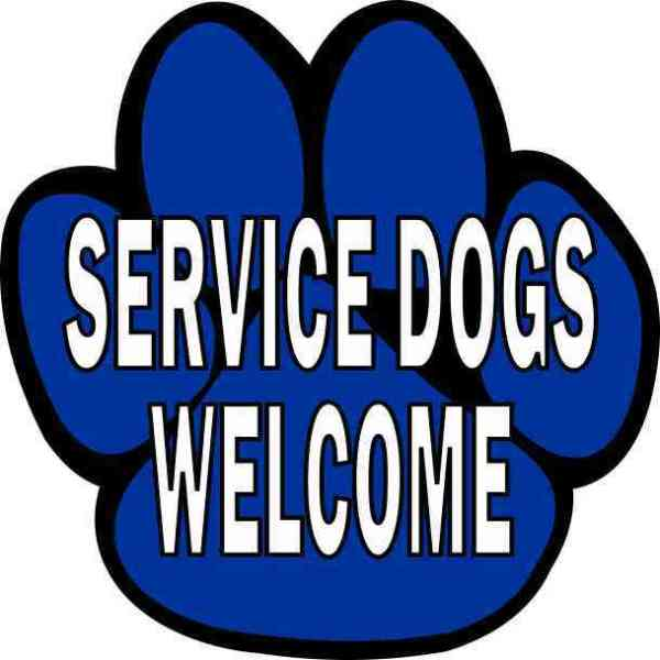 Service Dogs Welcome Sticker
