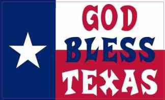 Red White and Blue Flag God Bless Texas Magnet
