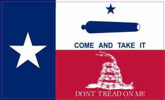 Gonzales Gadsden Texas Flag Magnet