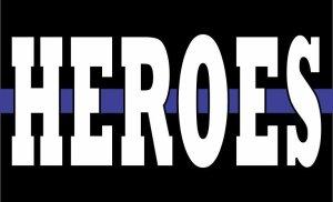 Blue Lives Matter Flag Heroes Magnet