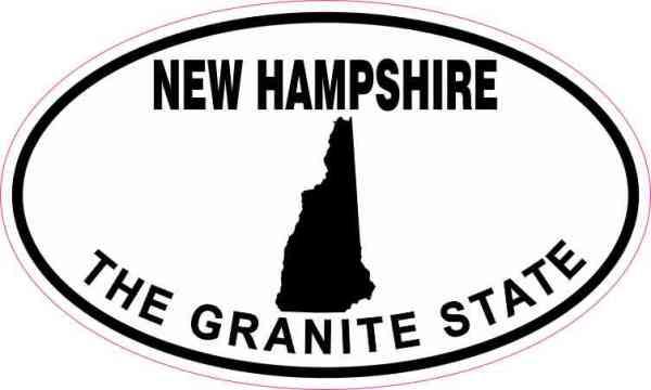 Oval New Hampshire The Granite State Sticker