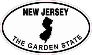 Oval New Jersey the Garden State Sticker