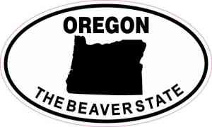 Oval Oregon The Beaver State Sticker