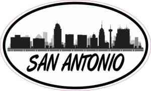 Oval San Antonio Skyline Sticker