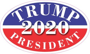 Oval Trump President 2020 Sticker