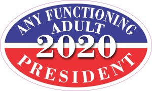 Oval Any Functioning Adult 2020 Sticker