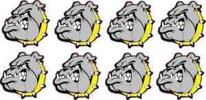 Yellow Collared Bulldog Stickers