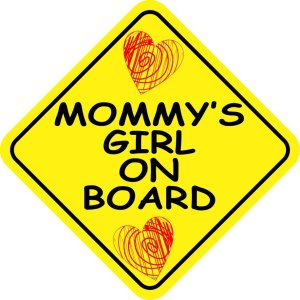 Mommy's Girl on Board Sticker