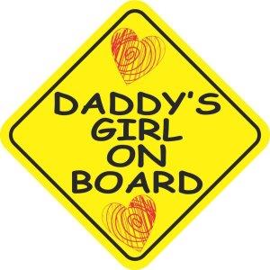 Daddy's Girl on Board Sticker