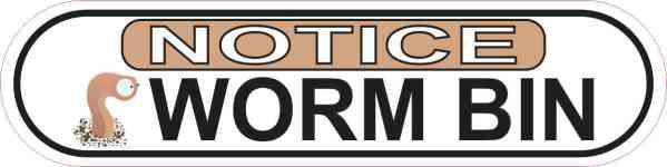 Picture Oblong Notice Worm Bin Sticker